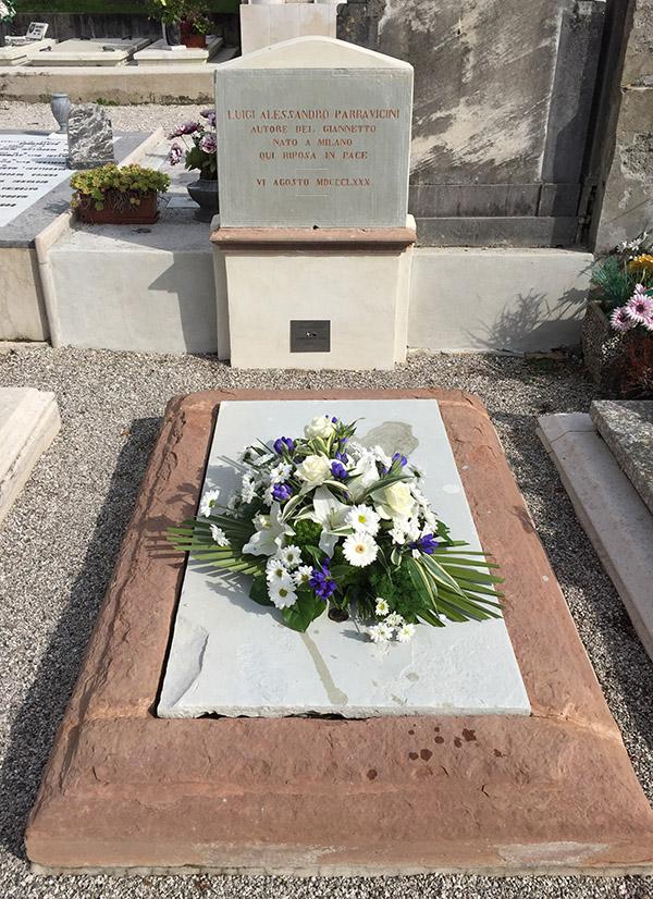 La tomba di L.A. Parravicini